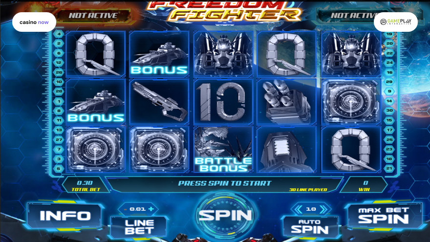 Freedom Fighter, Gameplay Interactive, RTP , Max Bet , Min Bet