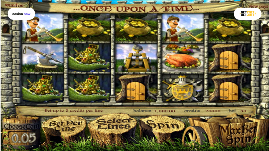 Once Upon a Time, Betsoft, RTP 95.00, Max Bet , Min Bet