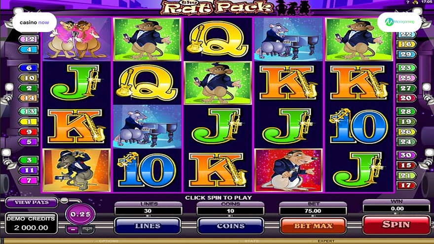 The Rat Pack, Microgaming, RTP 97.00, Max Bet , Min Bet