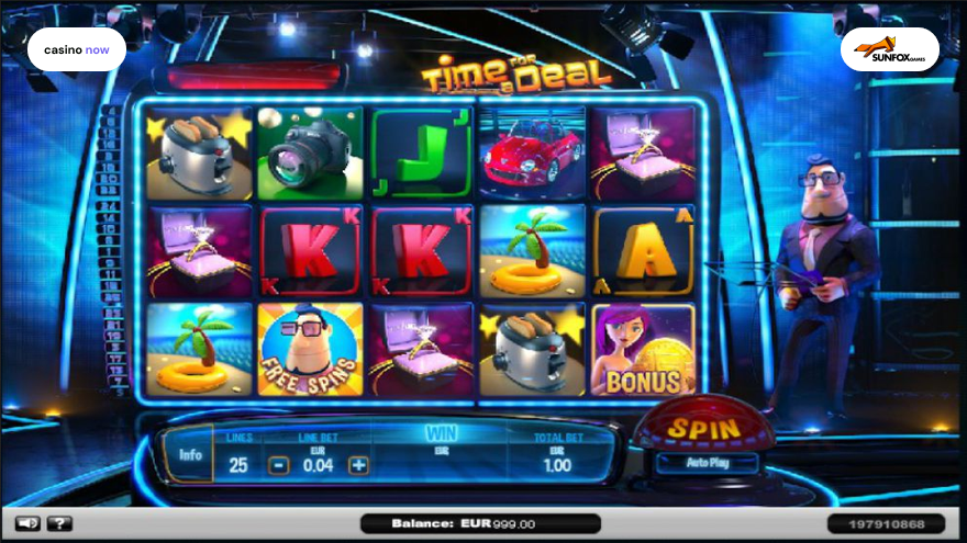 Time For A Deal, SUNFOX Games, RTP 95.00, Max Bet , Min Bet