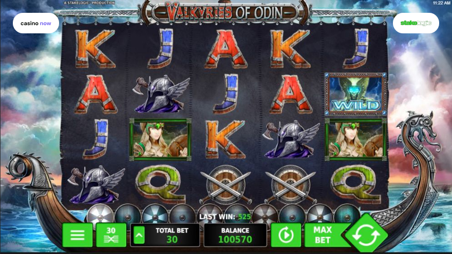 Valkyries of Odin, Stakelogic, RTP 96.04, Max Bet , Min Bet