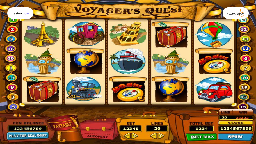 Voyager's Quest, Pragmatic Play, RTP , Max Bet , Min Bet