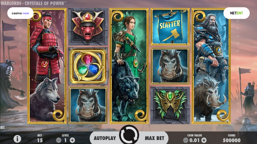 Warlords: Crystals of Power, NetEnt, RTP 96.80, Max Bet , Min Bet